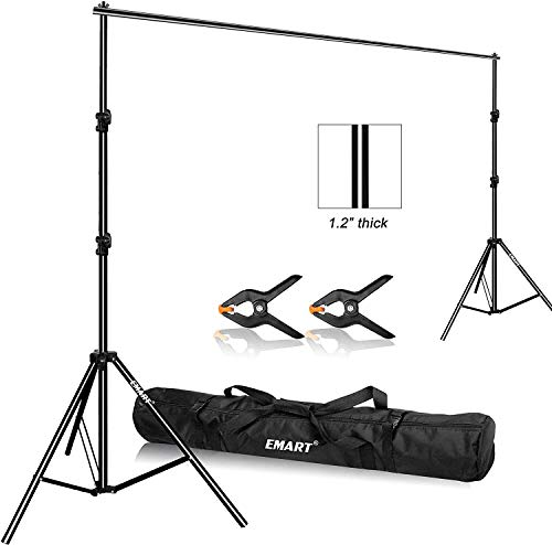 Emart 背景スタンド 写真撮影用 280cm x 300cm 調整可能 撮影スタンド キャリーバッグと2個強力クラン...