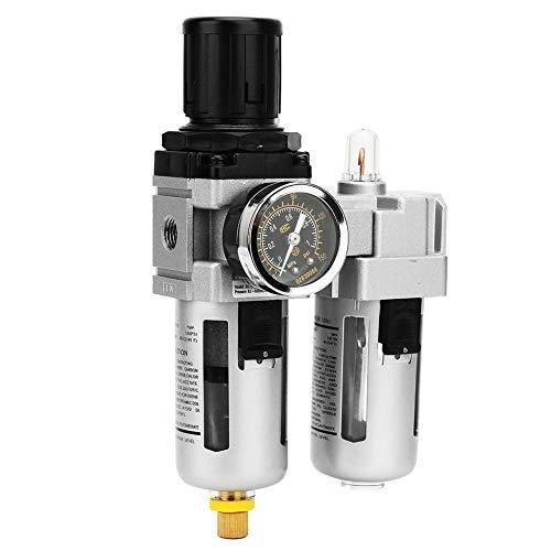 1/4 Kompressorluftfilter, 0,05-0,85 MPa 5μm-80μm Luftdruckregler Luftfilterregler mit Filterlehre Trap Tools Kit