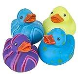 Rhode Island Novelty 2Inch Multi-Color/Pattern Rubber Duckies, One Dozen