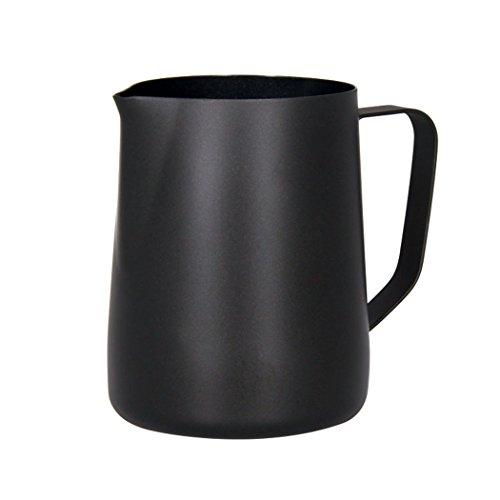 Sipliv 20 oz (600 ml) Edelstahl espresso dampfende Krüge Milch schäumenden Krug Milchkännchen Macchiato Cappuccino Latte Kunst machen Krug Tassen schäumenden Krug - schwarz