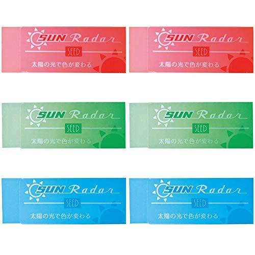 シード 消しゴム 太陽のレーダー 6個入 EP-SN