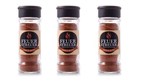 FeuerStreuer - Cajun Dust - 3er Set - Grill-Gewürz - universeller Würzmix - milder BBQ Rub