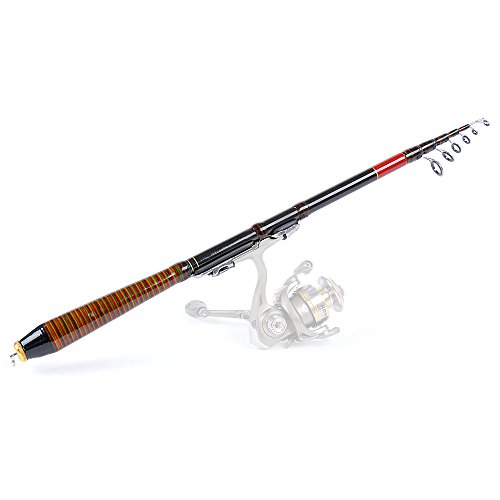 Lixada 2.1M 6.89FT Teleskop-Angelrute Lure Rod Pole Raft Carbon