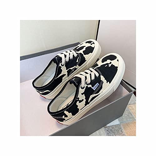 HaoLin Zapatillas de Mujer Zapatillas de Correr Transpirables Zapatillas de Deporte Antideslizantes Zapatillas de Caminar Casuales,Black-38 EU
