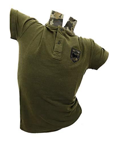 Lonsdale Polo Uomo Piquet Slim Fit Moda (Military Green 20240, S)