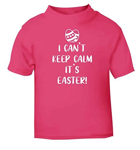 Flox Creative T-Shirt pour bébé Inscription I Can't Keep Calm It's Easter - Rose - 2 Ans