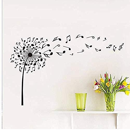 Bbnnn Diy Dandelion Music Notes Vinyl Wall Decals Stickers Kids Baby Nursery Dream Of Flying Wall Art Bedroom Decoration 58 * 93Cm