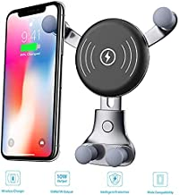 10W Wireless Charger Ehotchpotch Automatic Car Mount Dashboard Universal Phone Holder Compatible for Samsung Galaxy S9/S9Plus/S8/S8+, iPhone X, 8/8 Plus,Max/XR/X /8/8 Plus & Qi Enabled Devices