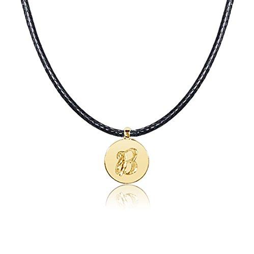 Collana con Ciondolo Oro e Diamanti Oro Giallo 9kt 375–Lettere dell' alfabeto per Lei e Lui–Cordone Lunghezza regolabile Clicca su MILLE AMORI blu e scopri tutte le nostre collezioni