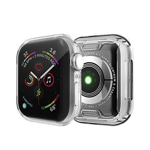 MroTech Kompatibel mit Apple Watch Series Series 3/Serie 2 Schutzhülle 38mm iWatch Hülle Schutz Hülle mit Bildschirmschutz Vollschutz Bildschirm Hülle Weiche TPU Rahmen Gehäuse R&um Schutzhülle-38 mm Klar