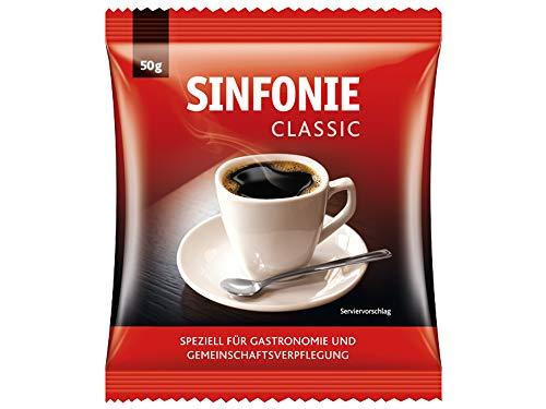 Sinfonie Filterbeutel Classic, 60 x 50g gemahlener Kaffee im Portionsbeutel, kräftiges und vollmundiges Aroma, ideal für den professionellen Gebrauch