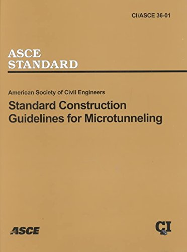 Standard Construction Guidelines for Microtunneling: This Document Uses Both Systeme International (