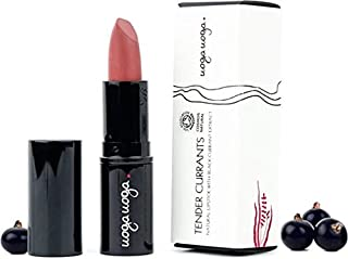 UOGA UOGA - Organic Lipstick Tender Currants - Pastel Brown - Colorants extracted from Fruit - Nourishing and protective - 100% natural - Certified Cosmos Natural - 4 g