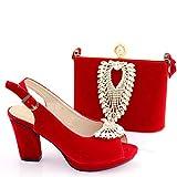 Bernice Funk Bolsos de Hombro Bolso de Mano con Asa Superior Zapatos Africanos Morados con Juego de Bolsos a Juego Zapatos Y Bolsos de Fiesta para Mujer Nigeriana Conjuntos de Zapatillas Y Bolsos Alt