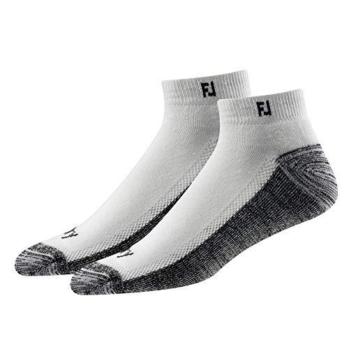 FootJoy Men's ProDry Sport 2-Pack Socks White Size 7-12