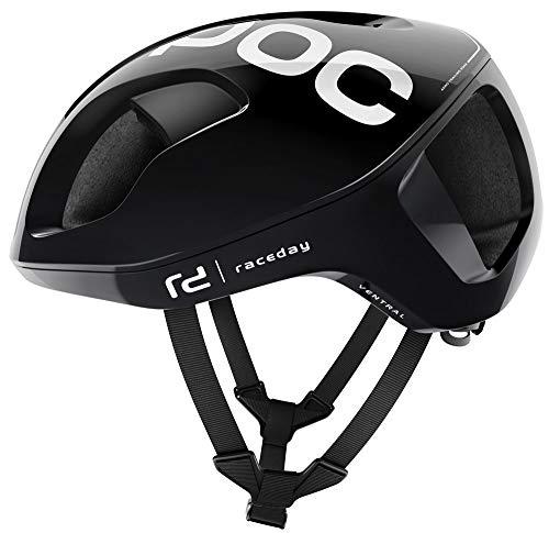 Poc Ventral Spin Fahrradhelm, Unisex, Erwachsene, Unisex, weiß Hydrogen weiß Raceday, L/56-62cm
