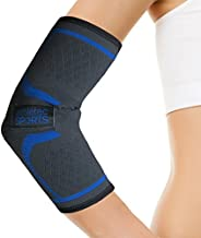 Athletec Sport Elbow Sleeve Compression, Support for Workouts, Arthritis, Tendinitis, Recovery from Tennis and Golfer's Elbow - Size Small in Black (One Piece)