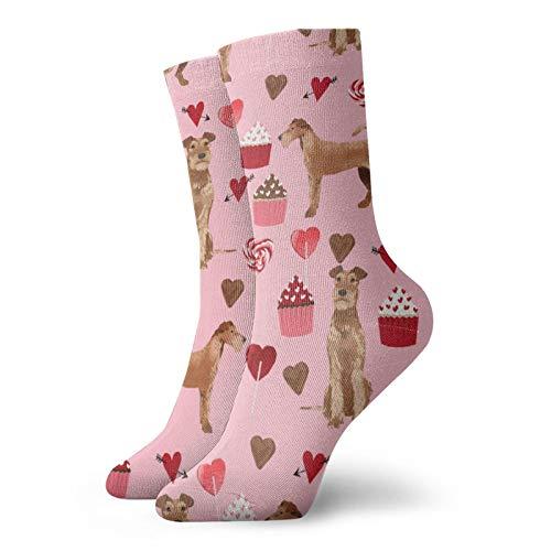 Calcetines de perro irlandés para mujer y hombre, calcetines de fútbol, calcetines deportivos