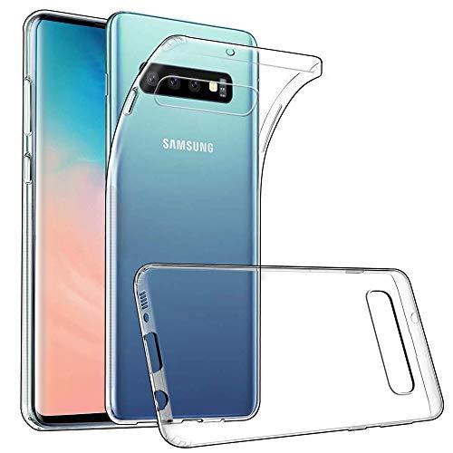 wsky Handy Hülle für Samsung Galaxy S10, Crystal Clear Dünn Schutzhülle, Kratzfest Durchsichtige Hülle Cover, Hohe Zähigkeit Soft TPU Silikon Hülle, Weich Transparent Handyhülle für Samsung Galaxy S10