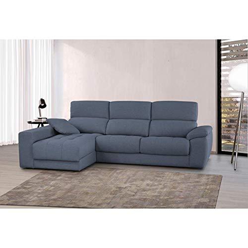 SHIITO Sofá Exclusivo chaiselongue y arcón a la Izquierda Pedro Ortiz Modelo Veleta (Azul)