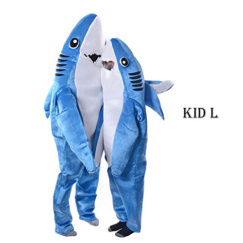 acutty 2231/5000Mode adultos niños Mono Cosplay Disfraz Shark Etapa Ropa Disfraz Halloween Navidad Requisiten