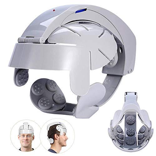 Elektrischer Kopfmassagegerät, Vibrationsmassage zur Entspannung des Hirsches, mit Fingermassage zur Entspannung und Auge Hals Akupressur Massage (USB Interface)