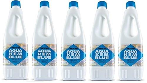 Aqua KEM - Bouteille de 2 litres dégivrante pour réservoir de camping-car, toilettes, chimique, ACque, noire, marque Thetford - Offre pour 5 bouteilles de 2 litres
