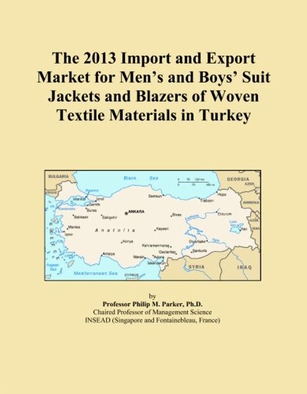 予約農業原告The 2013 Import and Export Market for Men's and Boys' Suit Jackets and Blazers of Woven Textile Materials in Turkey