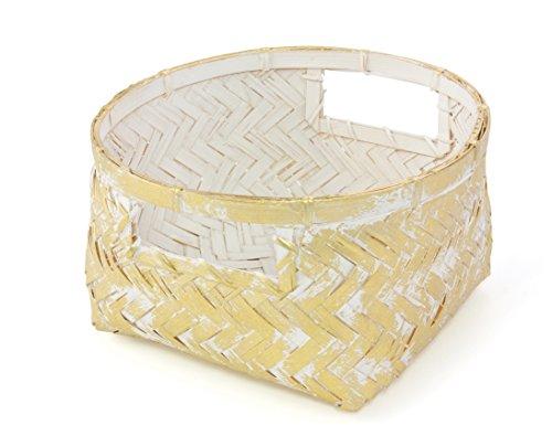 Gelco Design 710614 Boite DE Rangement, Bambou, Gold, 20 x 20 x 11 cm
