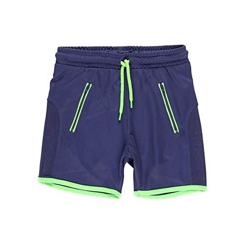 boboli - Bermuda de Deporte Niño de Punto, Talla de 8 Años   Pantalones Deportivos, 100% Algodón   Bermudas Cortos   Bermudas Deportivas   Estampados   Azul Marino - Verde