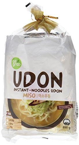 Allgroo Fideos Instantáneos Udon, Miso - Paquete de 12 x 690 gr - Total: 8280 gr