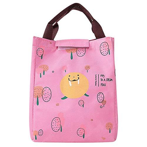 Kühltasche - 2019 Neu Niedliche Lunch Tasche Isoliertasche Mittagessen Tasche Picknicktaschen für Männer Mädchen Kinder im Freien - 24cm x 20cm x 10cm (F)