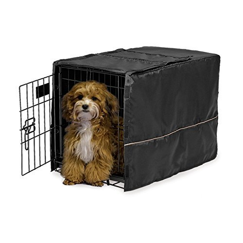 MidWest Black Polyester Crate Cover for 22 Inch wire crates, 22 Inches by 13 Inches by 16 Inches by Midwest Homes for Pets