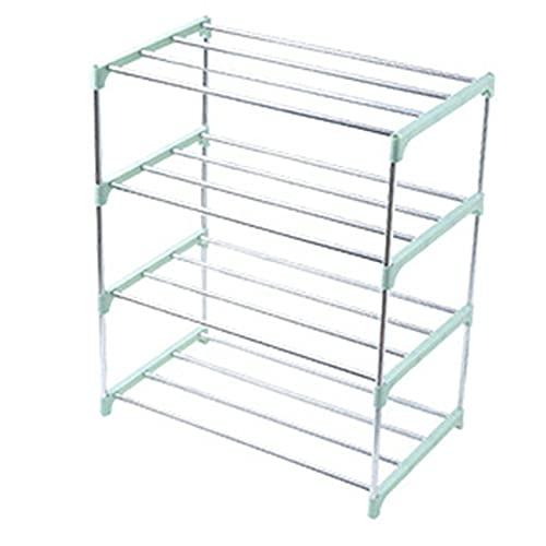 Ashley GAO Hogar simple 4 capas de acero inoxidable zapatero almacenamiento zapatero zapatero percha organizador hogar