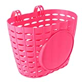 Homoyoyo - Cesta delantera de plástico para manillar de bicicleta, cesta para niños, niños, niñas, bicicletas, regalo