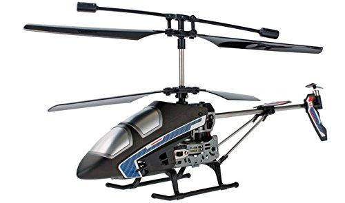 Cartronic Indoor Helicopter Blade Runner 2.4GHz in Schwarz, ferngesteuertes RC-Modell mit 7 Flugfunktionen, Funkreichweite 10 m, mit integriertem Akku