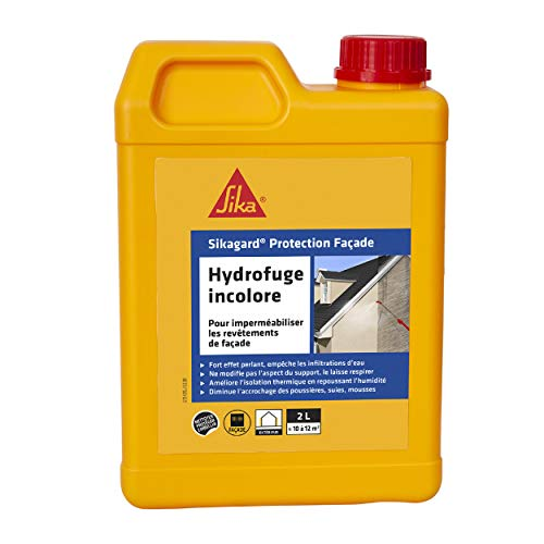 Sikagard Protection Façade, Imperméabilisant, hydrofuge pour façades prêt à l'emploi, 2L, Incolore