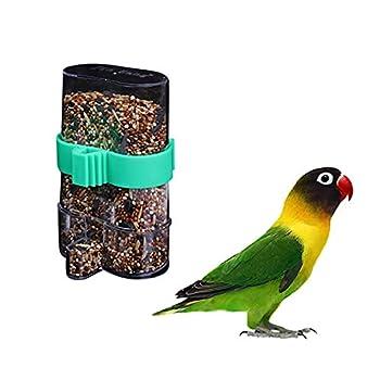 XNBZJ Cage d'oiseau Automatique des Oiseaux fournit des Accessoires de Cage d'oiseau Panier de Fruit fourrage Canary (Color : Clear)