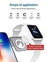 2ワイヤレス充電器、QIワイヤレス充電スタンドIWATCH/iPhone X/iPhone XS/iPhone XS MAX/iPhone XR/iPhone 8 Plus/iPhone 8、Grey (Type : Def)