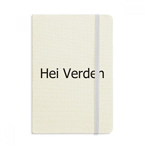 DIYthinker Hallo Welt norwegische Sprache Notebook Stoff Hard Cover Klassisches Journal Tagebuch A5 A5 (144 X 210mm) Mehrfarbig
