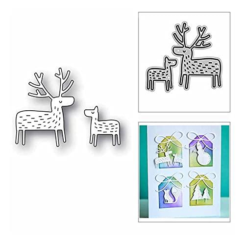 Sygjal Christmas Joyful Reindeer Animal Metal Cutting Dies for DIY Scrapbooking Card Making Decor Embossing Craft Cutting Dies