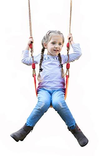 Huike Elastische kinderschommel kleur Eva zacht board U-schommel tuin plankschommel schommelstoel schommelplank buitenshuis schommel met in hoogte verstelbaar touw