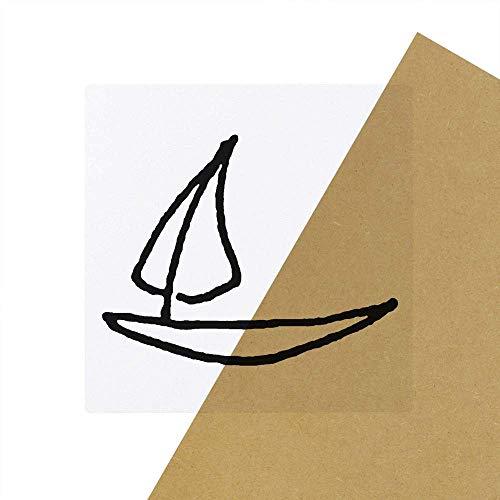 Azeeda 6 x 'Sail Boat' Clear Stickers (SK00040657)