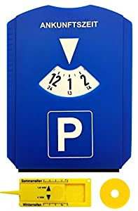 Parkscheibe fürs Auto Parkscheibe mit Profiltiefenmesser Einkaufswagenchip Autozubehör zum Parken Einkaufen Der Eiskratzer befindet sich an der Seite und die Abziehlippe an der Unterkante der Parkuhr Die Parkscheiben fürs Auto eine 24 Stunden Anzeige...