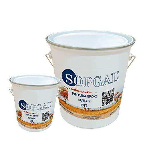 Pintura Epoxi Suelos - Sopgal (Con Antideslizante, 5kg + 1kg), especialmente indicada para suelo industrial