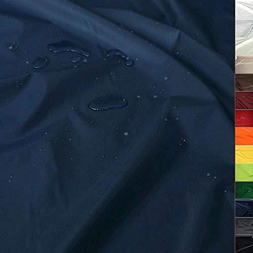 TOLKO Sonnenschutz Nylon Planen-Stoff Meterware - 180 cm Breit, Wasserdicht, Reißfest und Blickdicht als Universal Outdoorstoff zum Nähen (Marine-Blau)