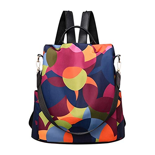 Mujeres Oxford Paño Bolsas Escolares Multifunción Viajes Bagpacks Teenager Girls Casual Anti-Robo Mochilas (Color : Multicolor)