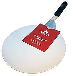 Vesuvo Pizzaschaufel aus Edelstahl - 30cm Durchmesser - hohe Qualität - rostfrei Edelmetall