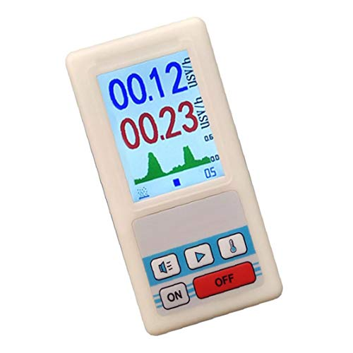 Geiger Contador profesional de la radiación nuclear detector personal dosímetros mármol detector de radiación nuclear Meter Beta Gamma X datos de rayos mármol probador de mineral de uranio Monitor de