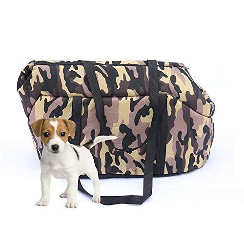QWET Bolso para Mascotas PortáTil, Bolso De Color Camuflaje para Mascotas Desmontable Y Lavable Resistente A La Suciedad, Adecuado para Perros PequeñOs Y Gatos,B,M